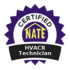 NATE HVAC Technician badge